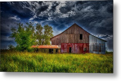 Abandoned Through The Reeds Metal Print by Bill Tiepelman