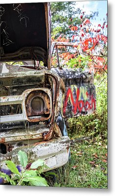Abandoned Truck With Spray Paint Metal Print