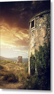 Abandoned Windmills Metal Print by Carlos Caetano