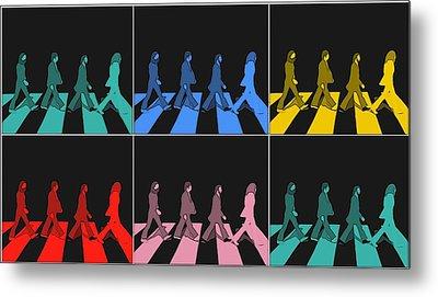 Abbey Road Pop Art Panels Metal Print