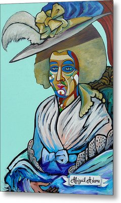 Abigail Adams Metal Print by Gray