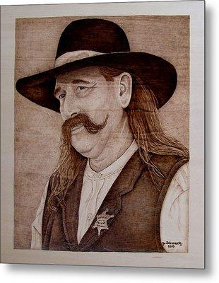 Abilene Marshal Metal Print by Jo Schwartz
