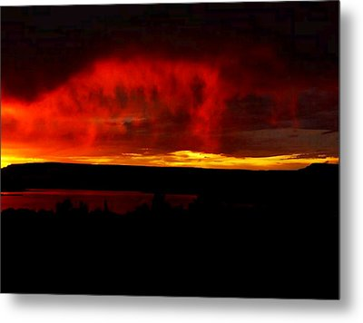 Metal Print featuring the painting Abiquiu Reservoir  by Dennis Ciscel