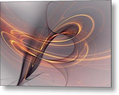 Abstract 090411 Metal Print by David Lane