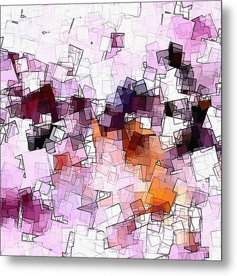 Abstract And Minimalist Art Made Of Geometric Shapes Metal Print