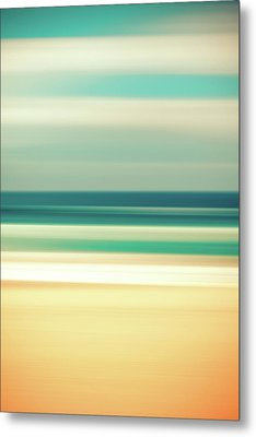 Abstract Beach Metal Print