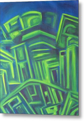 Abstract Cityscape Series IIi Metal Print by Patricia Cleasby