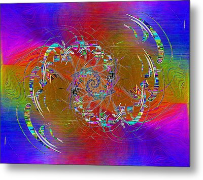 Metal Print featuring the digital art Abstract Cubed 351 by Tim Allen