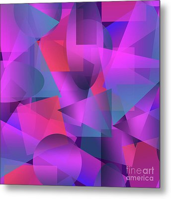 Abstract Cubes Metal Print by Amir Faysal