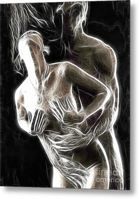 Abstract Digital Artwork Of A Couple Making Love Metal Print by Oleksiy Maksymenko
