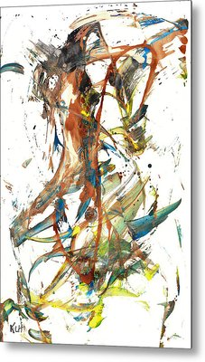 Metal Print featuring the painting Abstract Expressionism Painting Series 1039.050812 by Kris Haas