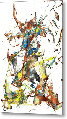 Metal Print featuring the painting Abstract Expressionism Painting Series 1040.050812 by Kris Haas
