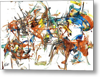 Metal Print featuring the painting Abstract Expressionism Painting Series 1041.050812 by Kris Haas