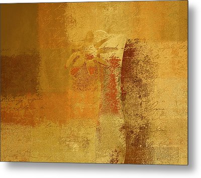 Abstract Floral - 14v2ct01a Metal Print by Variance Collections