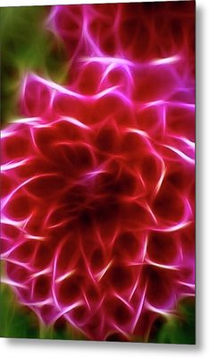 Abstract Flower Metal Print by Contemporary Art
