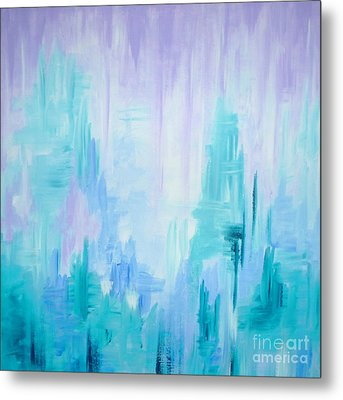 Abstract Frost 1 Metal Print