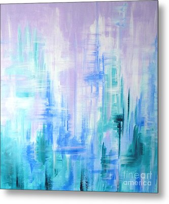 Abstract Frost 2 Metal Print