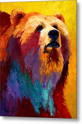 Abstract Grizz Metal Print by Marion Rose