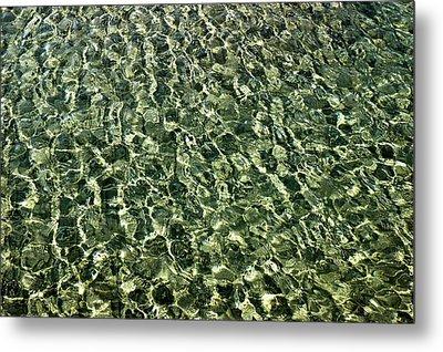 Metal Print featuring the photograph Abstract Lake Reflections by LeeAnn McLaneGoetz McLaneGoetzStudioLLCcom