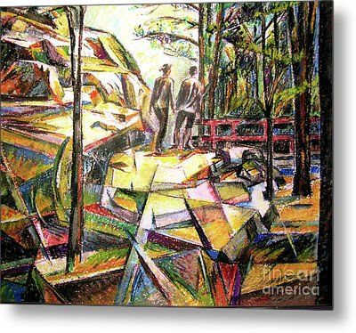 Abstract Landscape With People Metal Print by Stan Esson