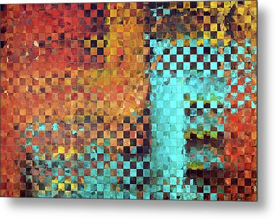 Abstract Modern Art - Pieces 1 - Sharon Cummings Metal Print by Sharon Cummings