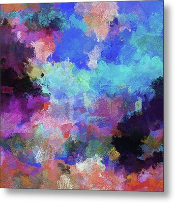 Abstract Nature Painting Metal Print