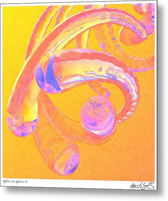 Abstract Number 2 Metal Print by Peter J Sucy
