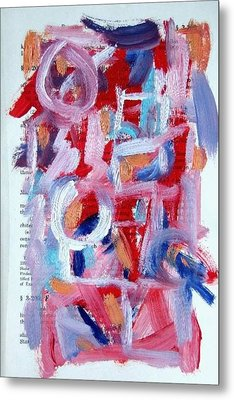 Abstract On Paper No. 30 Metal Print by Michael Henderson