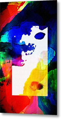 Abstract Rectangle Merge  By Delynn Metal Print by Delynn Addams