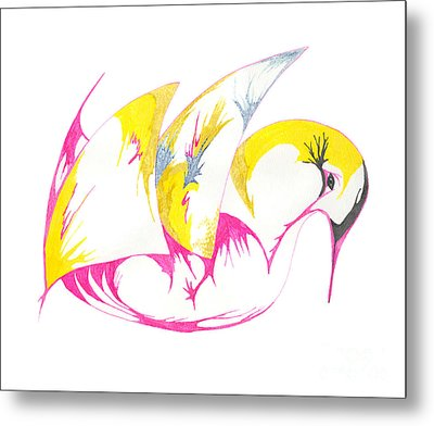 Abstract Swan Metal Print