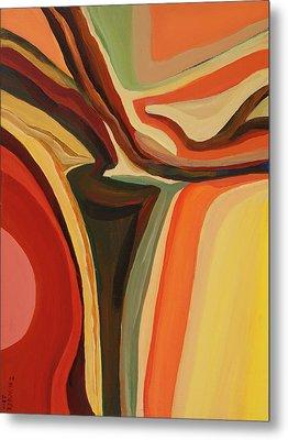 Abstract Vase Metal Print