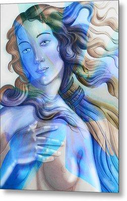 Metal Print featuring the painting Abstract Venus Birth 4 by J- J- Espinoza