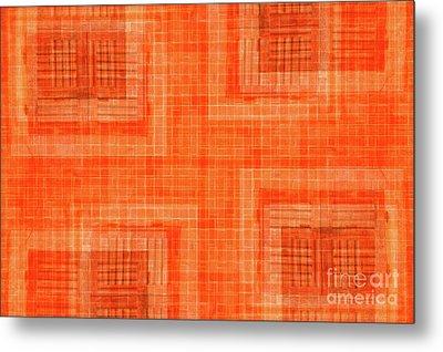 Abstract Window On Orange Wall Metal Print by Silvia Ganora