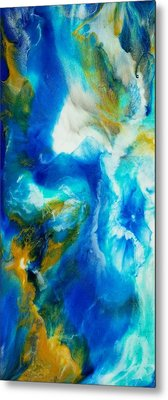 Metal Print featuring the painting Abyss  by Christie Minalga