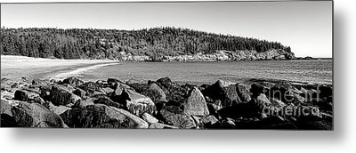 Acadia National Park Sand Beach Metal Print by Olivier Le Queinec