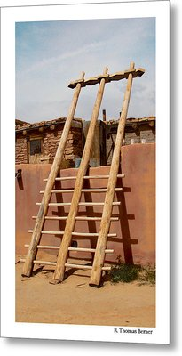 Metal Print featuring the photograph Acoma Ladder by R Thomas Berner