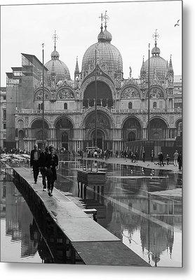 Acqua Alta, Piazza San Marco Metal Print by Richard Goodrich