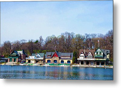 Across From Boathouse Row - Philadelphia Metal Print by Bill Cannon