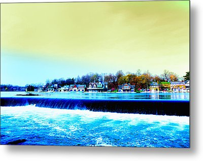 Across The Dam To Boathouse Row. Metal Print by Bill Cannon