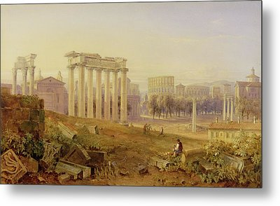 Across The Forum - Rome Metal Print by Hugh William Williams