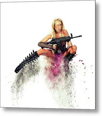 Action Girl Metal Print by Stephen Smith