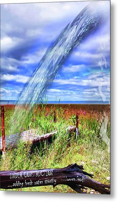 Adding Fresh Water Shortly Metal Print by Cathy  Beharriell