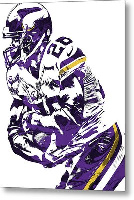 Adrian Peterson Minnesota Vikings Pixel Art Metal Print