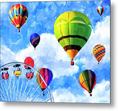 Metal Print featuring the mixed media Aerial Birth by Mark Tisdale