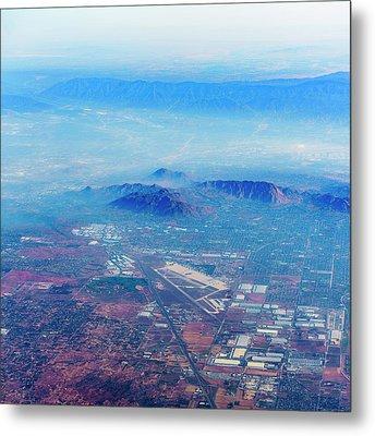 Aerial Usa. Los Angeles, California Metal Print by Alex Potemkin