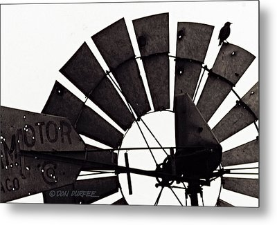 Metal Print featuring the photograph Aermotor Bird by Don Durfee