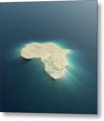 Africa Conceptual Island Design Metal Print by Johan Swanepoel