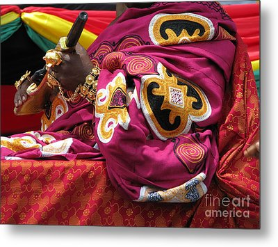Metal Print featuring the photograph African Chief by Erik Falkensteen
