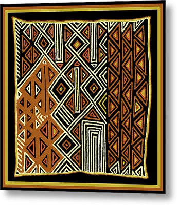 Metal Print featuring the digital art African Kuba View From Earth by Vagabond Folk Art - Virginia Vivier