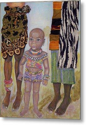 Afrik Girl Metal Print